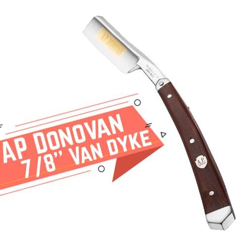 Rasoio a mano libera AP Donovan 7/8'' Van Dyke