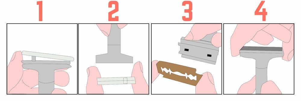 Come cambiare lama rasoio di sicurezza
