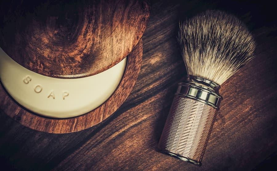 Pennello sapone cura della barba